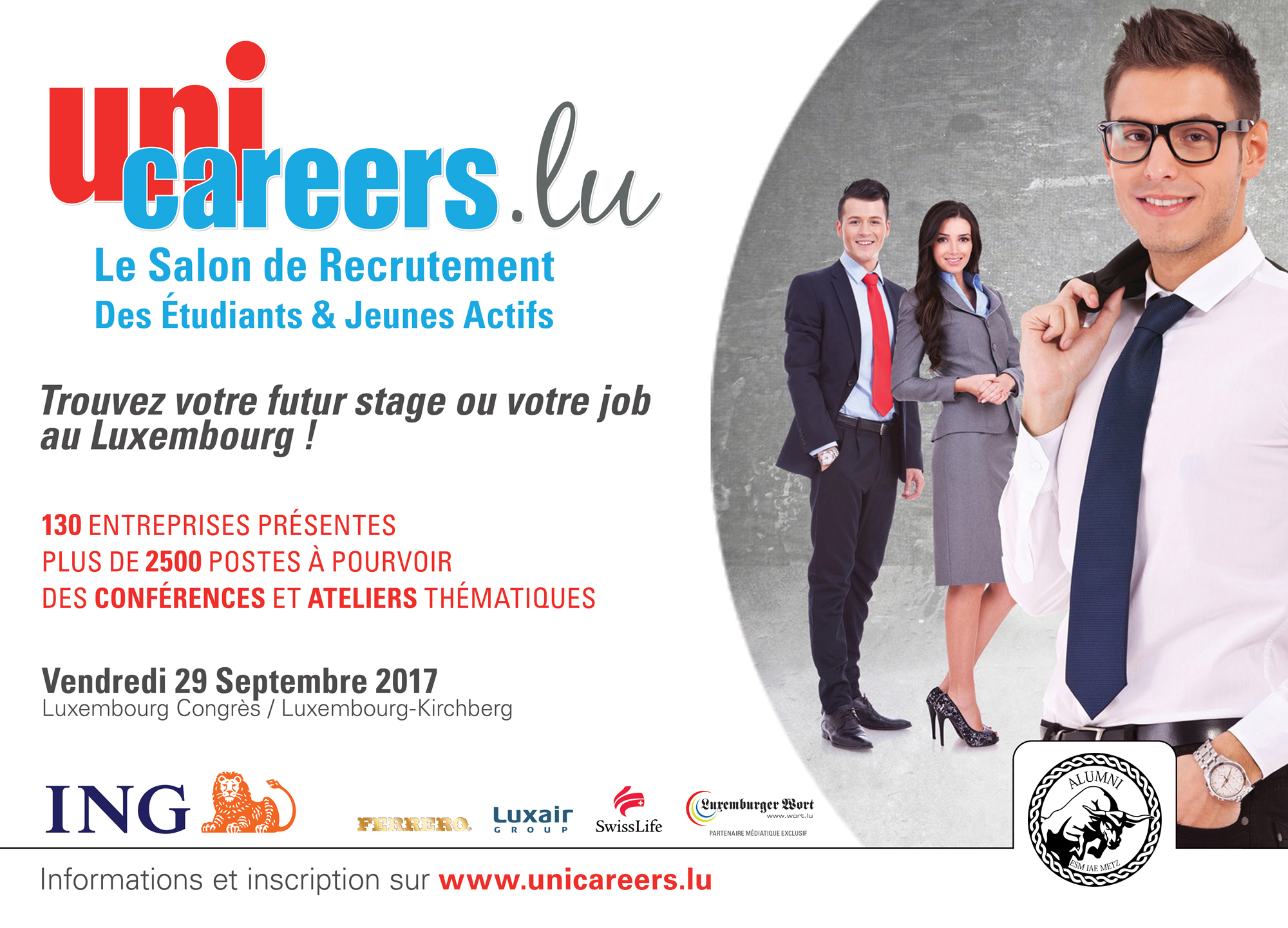 Le salon de recrutement luxembourgeois for Salon recrutement 2017